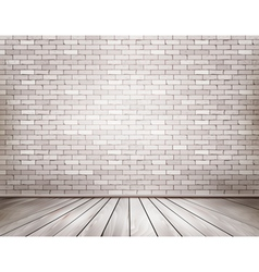 White brick room vector image