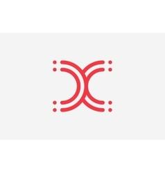 x letter logo design line logo creative logo vector image