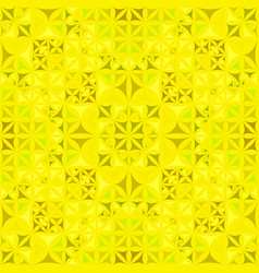 Yellow repeating kaleidoscope pattern background vector