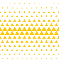 yellow white triangle pattern halftone background vector image