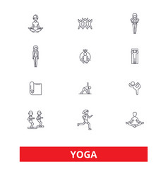 Yoga meditation fitness poses exercise zen vector