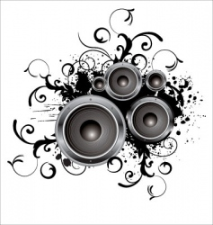 grunge party box in stereo vector image vector image