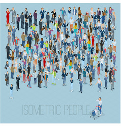 people crowd template vector image