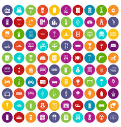 100 home icons set color vector image vector image