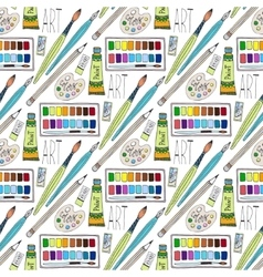 cartoon doodles hand drawn art supplies vector image
