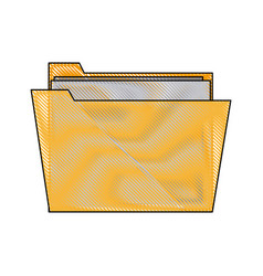 folder file paper document archive icon vector image vector image