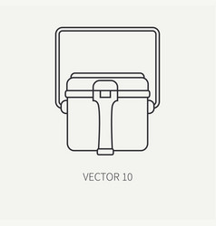 line flat hunt and camping icon - kettle vector image