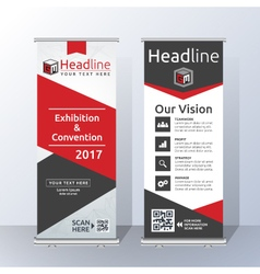 Roll Up Banner Template Design vector image vector image