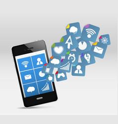 Smartphone app icons vector