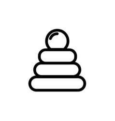 baby pyramid toy thin line icon outline symbol vector image vector image
