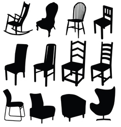 chair art in black color two vector image