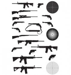 gun silhouette collection vector image