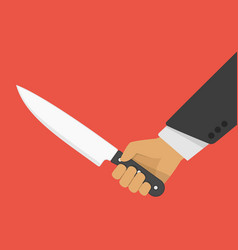 hand holding a knife vector image