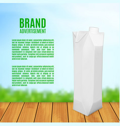 juice box on a blurred background vector image