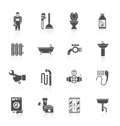 Plumbing icons set vector image vector image