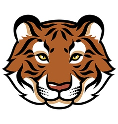 tiger calm color vector image
