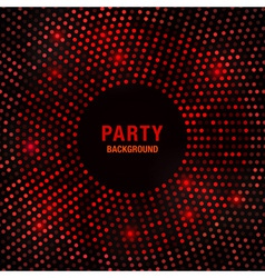Abstract Circular Red Glow Background vector image