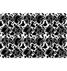 black and white seamless chess styled vintage cow vector image vector image