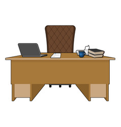 boss table business office leader supervisor vector image vector image