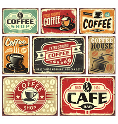 coffee signs and labels collection vector image