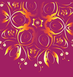 colorful floral ornament vector image vector image