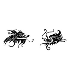 evil dragon head artwork inspired with vector image