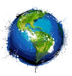 Grungy globe vector image vector image