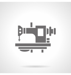 Old sewing machine glyph style icon vector