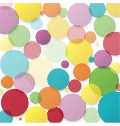 Abstract background with color circles vector