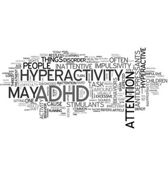 Adhd me text word cloud concept vector