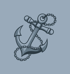anchor sailors symbol tattoo style vector image