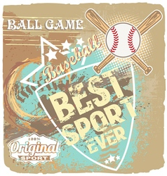 Baseball best sport ever vector