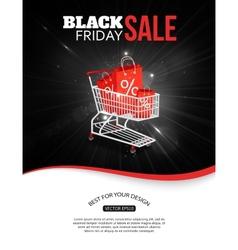 Black friday sale shining background vector