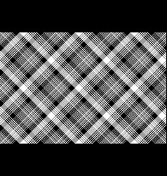 Black white plaid checked seamless pattern vector