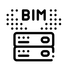 Building information modeling icon outline vector