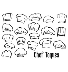 Chef hats and toques set vector