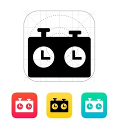 Chess clock icon vector