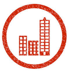 City rounded grainy icon vector