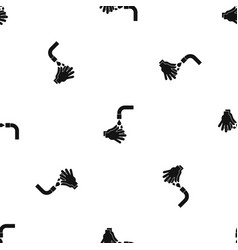 cleaning hands pattern seamless black vector image