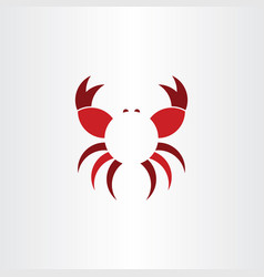 Crab logo symbol icon vector