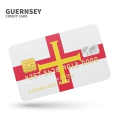 Credit card with Guernsey flag background for bank vector image