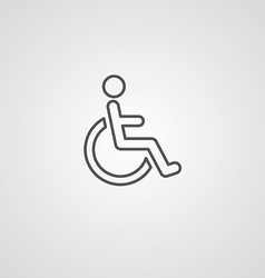 Cripple outline symbol dark on white background vector