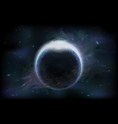 Dark planet vector image