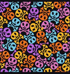 day dead holiday sugar skulls vector image