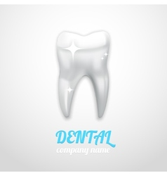 dental emblem vector image