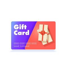 design gift card top down view to stack of vector image