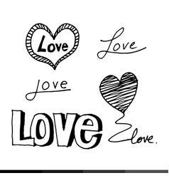 doodle love drawing design vector image