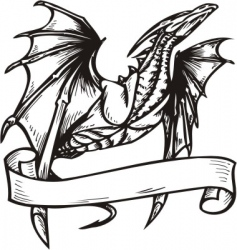 Dragon template vector