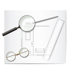 drawing architecture sketch vector image