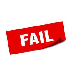 Fail sticker fail square isolated sign fail vector